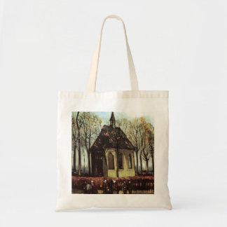 Van Gogh Congregation Leaving the Reformed Church Tote Bag