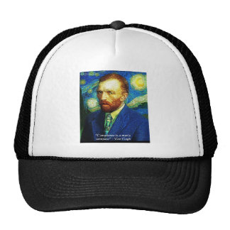 "Van Gogh ""Conscience Compass"" Quote Gifts Tees Etc Trucker Hat"