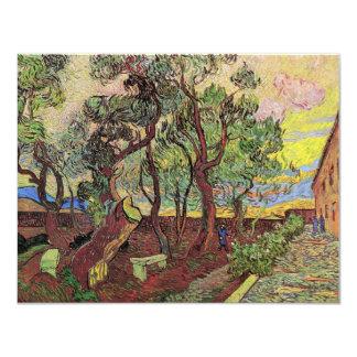 Van Gogh Corner of Saint-Paul Hospital and Garden 4.25x5.5 Paper Invitation Card