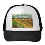 Van Gogh; Cornflowers del campo de trigo, granja Gorras