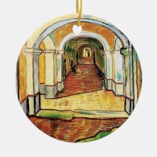 Van Gogh - Corridor Of Saint Paul Asylum In Saint Christmas Ornaments