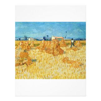 Van Gogh; Cosecha en Provence Tarjeton