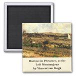 Van Gogh; Cosecha en Provence, paisaje del vintage Imanes