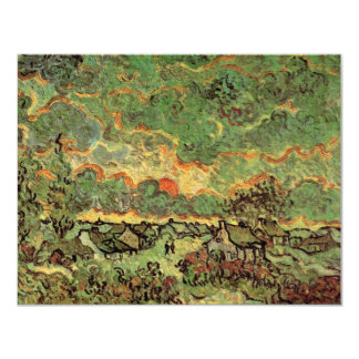 "Van Gogh; Cottages Cypresses Reminiscence of North 4.25"" X 5.5"" Invitation Card"