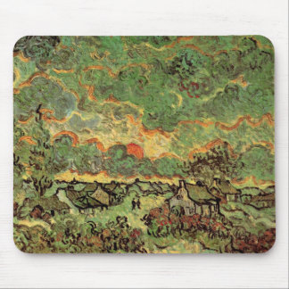Van Gogh Cottages Cypresses Reminiscence of North Mouse Pad