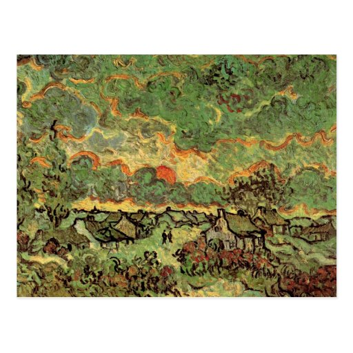 Van Gogh; Cottages Cypresses Reminiscence of North Post Card