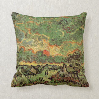 Van Gogh Cottages Cypresses Reminiscence of North Throw Pillow
