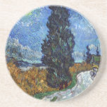Van Gogh- Country Road in Provence by Night Coasters