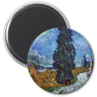 Van Gogh- Country Road in Provence by Night Magnet