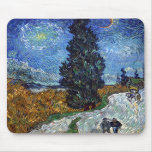 Van Gogh Country road in Provence by night Mousepad