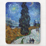 Van Gogh Country road in Provence by night Mouse Pad
