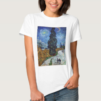 Van Gogh- Country Road in Provence by Night Shirt