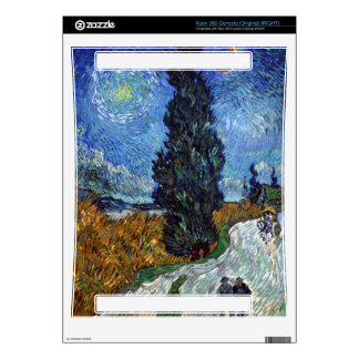 Van Gogh - Country road in Provence by night Skin For The Xbox 360