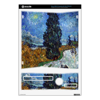 Van Gogh - Country road in Provence by night Skin For The Xbox 360 S