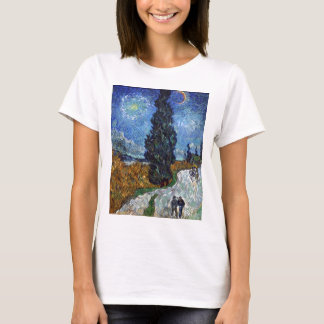 Van Gogh- Country Road in Provence by Night T-Shirt