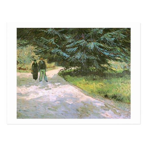 Van Gogh Couple & Blue Fir Tree Fine Vintage Postcard