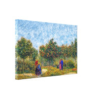 Van Gogh - Couples In The Park Canvas Print