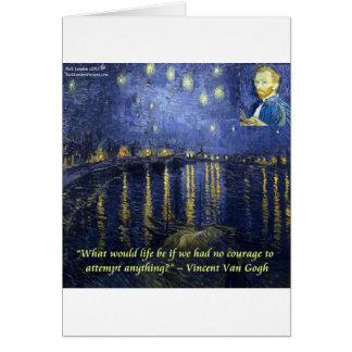 Van Gogh Courage Quote Card