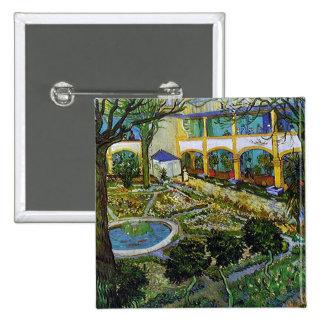 Van Gogh Courtyard of Hospital at Arles Pin