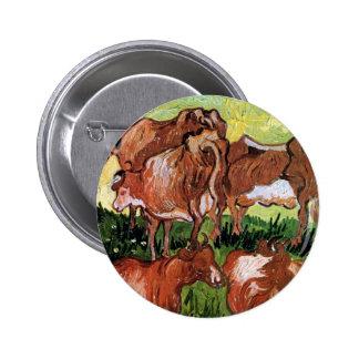 Van Gogh Cows After Jordaens Button