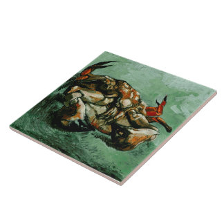 Van Gogh Crab on Its Back (F605)Fine Art Ceramic Tile