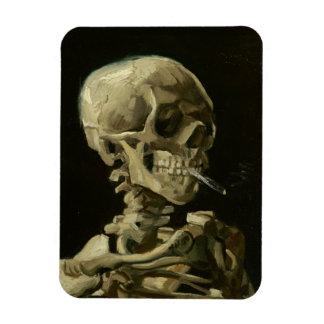 Van Gogh - cráneo con el cigarrillo ardiente Imán De Vinilo