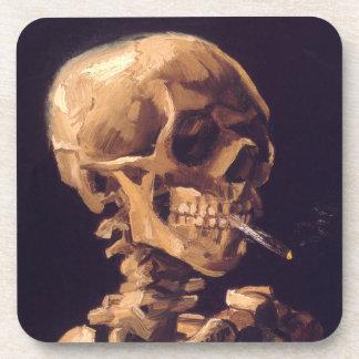 Van Gogh Cráneo con la quema de Cigaret Posavasos