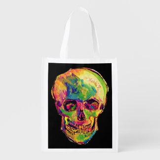 Van Gogh - cráneo del arte pop Bolsas Para La Compra