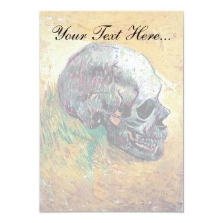 """Van Gogh - cráneo en perfil Invitación 5"""" X 7"""""""
