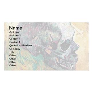 Van Gogh - cráneo en perfil Tarjetas De Visita