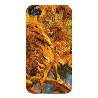 Van Gogh Cuatro girasoles iPhone 4 Carcasa