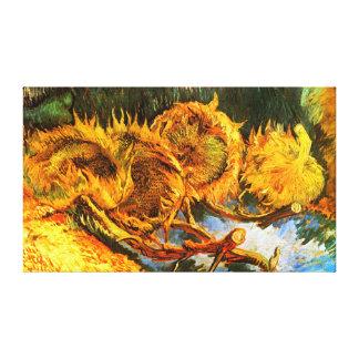 Van Gogh: Cuatro girasoles Impresion En Lona