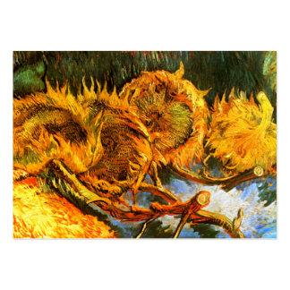 Van Gogh: Cuatro girasoles Tarjetas De Visita Grandes