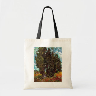 Van Gogh - Cypresses with Two Female Figures Tote Bag