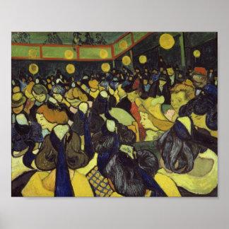 Van Gogh Dance Hall in Arles Fine Vintage Poster