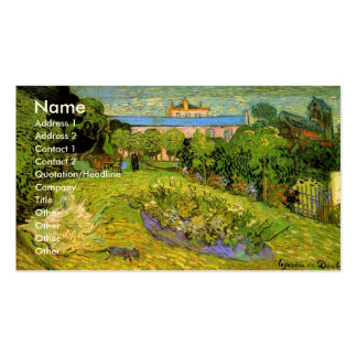Van Gogh Daubigny's Garden, Le Jardin de Daubigny Double-Sided Standard Business Cards (Pack Of 100)
