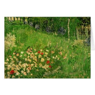 Van Gogh Daubigny's Garden, Vintage Fine Art Card