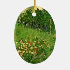 Van Gogh Daubigny's Garden, Vintage Fine Art Ceramic Ornament at Zazzle