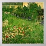 Van Gogh Daubigny's Garden, Vintage Fine Art Poster