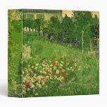 Van Gogh Daubigny's Garden, Vintage Flowers Art Binder
