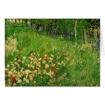 Van Gogh Daubigny's Garden, Vintage Flowers Art Greeting Card