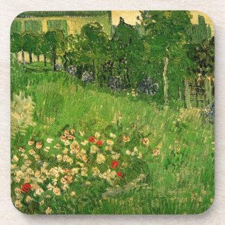 Van Gogh Daubigny's Garden, Vintage Flowers Art Beverage Coaster