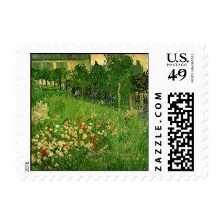 Van Gogh Daubigny's Garden, Vintage Flowers Art Postage
