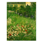 Van Gogh Daubigny's Garden, Vintage Flowers Art Postcard