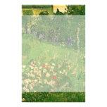 Van Gogh Daubigny's Garden, Vintage Flowers Art Custom Stationery