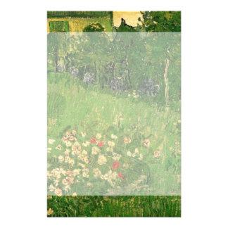Van Gogh Daubigny's Garden, Vintage Flowers Art Stationery