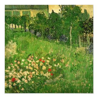 "Van Gogh Daubigny's Garden Wedding Invitation 5.25"" Square Invitation Card"