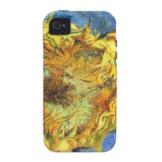 ~ Van Gogh de los girasoles F. 375 iPhone 4 Carcasas