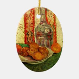 Van Gogh Decanter Lemons Plate, Vintage Still Life Ceramic Ornament