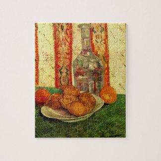 Van Gogh Decanter Lemons Plate, Vintage Still Life Jigsaw Puzzle